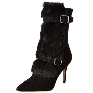 Via Spiga Chiaki Boots with Genuine Rabbit Fur NWB